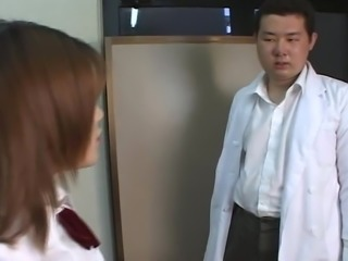 Japanese high school girl spitting on teacher