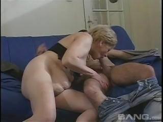 Amateur grandma Marta takes a young stud for an action