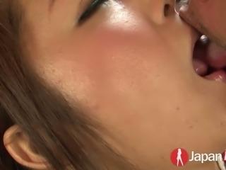 Japanese porn star Satomi Suzuki fucked bad in hairy vagina