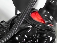 Rubber pulsating Vacuum suit