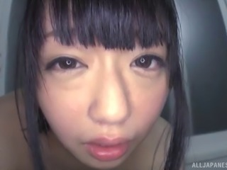Asian doll enjoying vibrator in shower then pounded hardcore