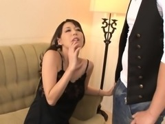 Oriental babes with ass plugs charm stud's hard rod