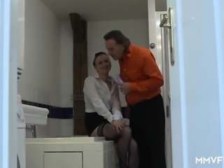 Naughty maid Alessia Donati slammed by her boss