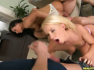 Blonde and hard dicked fuck buddy Choky Ice fulfill their anal needs together...