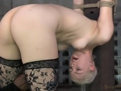 Nice ass bondage doll bending over when pounded hardcore in BDSM