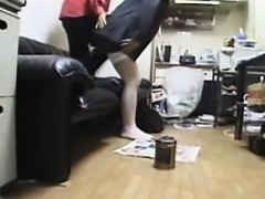 Cute Asian teen gets drilled at home then goes to another t