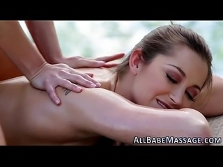 Blonde masseuse tastes