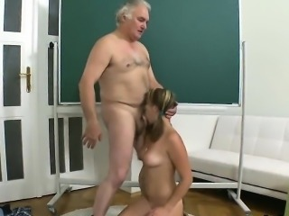 Pretty schoolgirl gets teased and nailed by her elder school