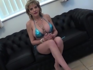 Unfaithful english milf lady sonia pops out her huge boobs