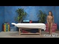 Bare oil massage