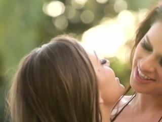 Latina lesbian kissing