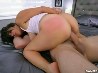 Smoking hot Nina Lopez fucked brutally in a doggy position