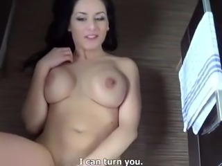Beautiful Big Boob Brunette Czech Girl Fucked in Kitchen