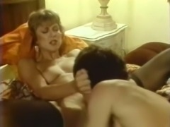 Sexy white blonde housewife gives amazing head on the bed