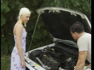 Let s barter he tells girl,I fix car, you fuck