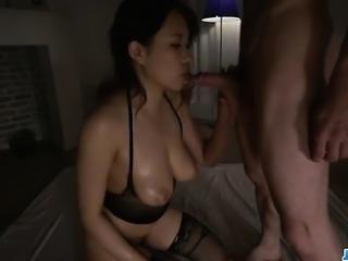 Gorgeous blowjob porn scenes with busty Saki Sudou