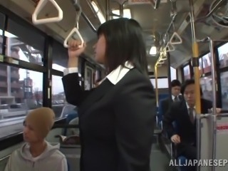 Naughty Japanese Girl Gets Fucked on the Public Bus