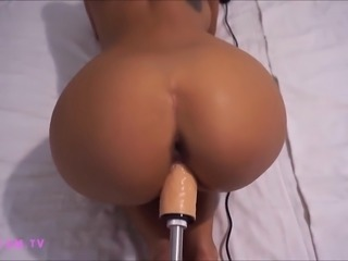 Machine Fucking a Perfect Round Ass