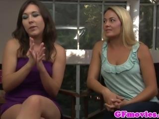 Bigtitted lesbian pegging kinky slut