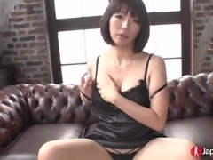 Hot Japanese babe loves masturbating as she is playing with sex toys and...