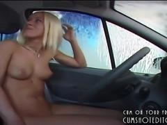 Young German Amateur Naked At The Car Wash