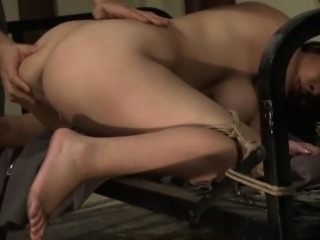 Bigass sub tied up and fucked by maledom