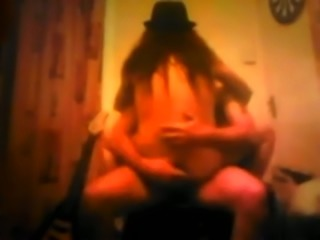 Kinky housewife in cowgirl hat got brutally nailed missionary style