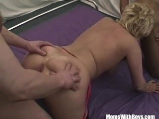 Blonde busty cock hungry mature gets her pussy played with sex toys
