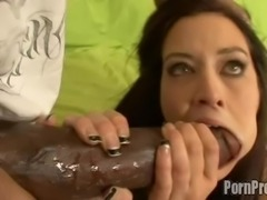 Hot sex position of brunette riding big black cock hardcore