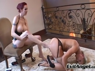 Lesbian sex slave gets spanked in enticing bdsm fetish shoot