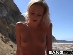 BANG: College Teen Emma Gets Creamy On The Beach