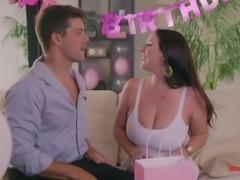 Angela White surprises he boyfriend with an amazing shag