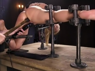 when she is tied up and tortured