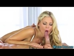 Sucking masseuse swallows