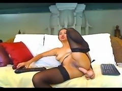 Asian Cam Girl Toying Her Ass And Pussy