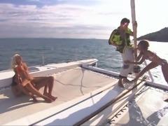 Sahara and Boroka in an unforgettable yacht foursome