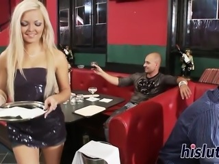 Two lovely blondes pleasure numerous fat dongs
