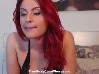 I've never seen a redhead this hot and she has got boobs to enjoy