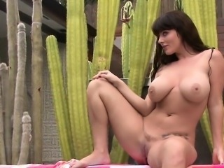 Angela shows off her massive boobs