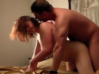 Slutty wife Amy has hardcore sex with our good looking man