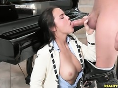 Dillion Harper gives unthinkable mouth job to hot Xander Corvus