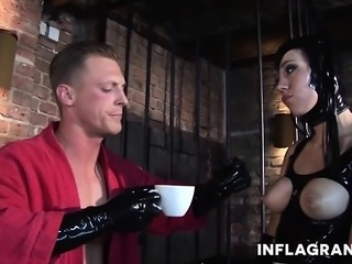 Latex girl Black Lady adores fisting and fucking