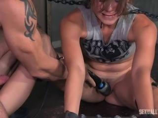 Zoey has her face fucked brutally during a ruthless BDSM action