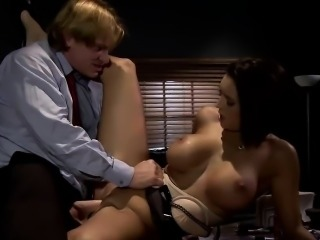 Stacked stunner Dylan rides a fat dong