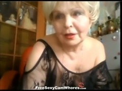 Age isn't stopping this nasty granny from rubbing her old pussy on webcam