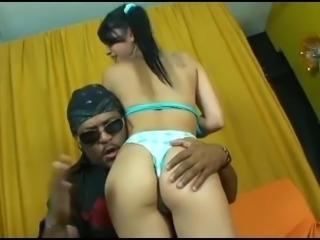 First anal for brazilian teen