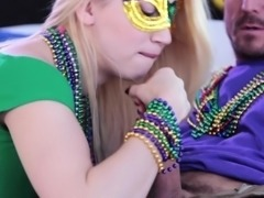 Sierra Nicole and Taylor Sands In Mardi Gras Madness Pt 1