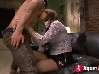 Kazumi Nanase fucked deep in her wet vagina doggystyle
