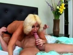 Depraved blond cougar Tara Holiday rides hard cock of Preston Parker