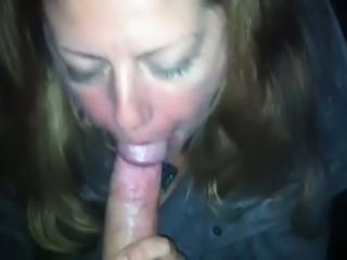 Redhead slut giving head at the park when I make amateur video